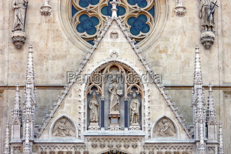 detail of the cathedral in zagreb