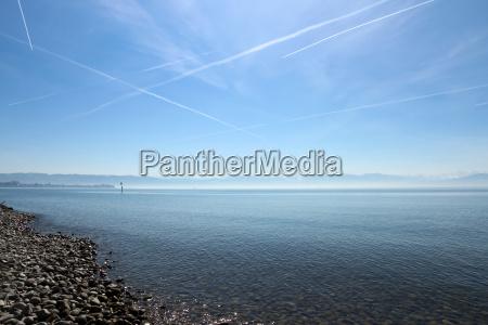 Bodensee, Alpen, Berge, See, Frühling, Flugverkehr - 13984779