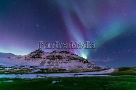 island aurora nordwind herz natur