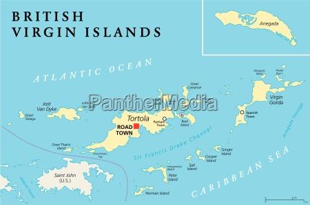 british virgin islands political map