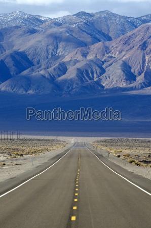 eine strasse highway 95 erstreckt sich