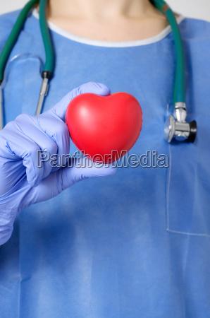 herz in der hand des chirurgen