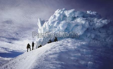 azul enorme cumbre logro horizontalmente al