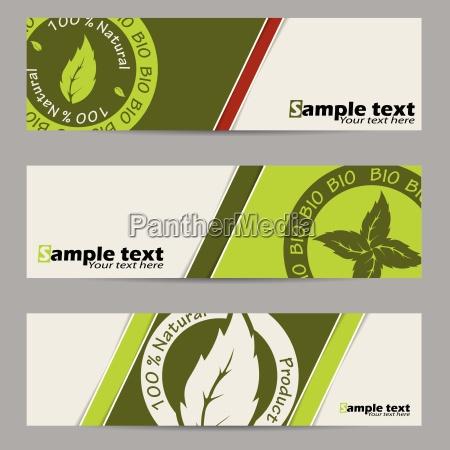 bio label banner set