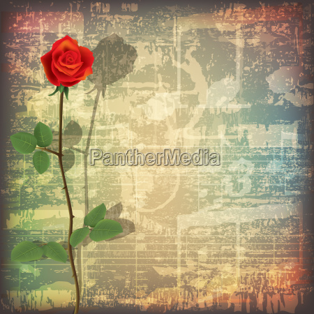abstract grunge piano background with red