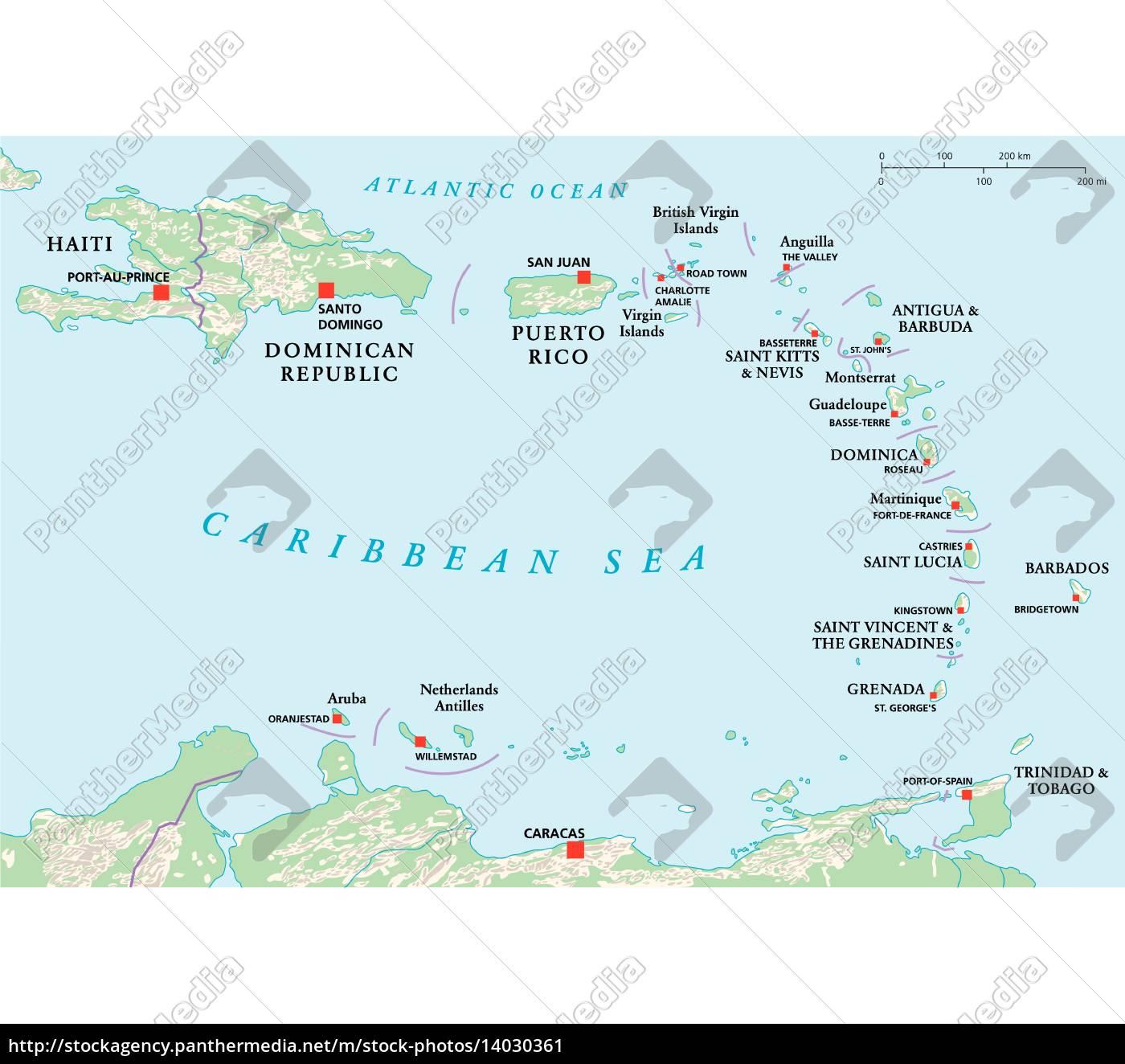 Kleine Antillen Haiti Dominikanische Republik Stockfoto