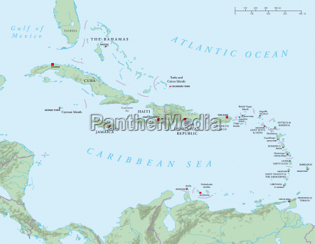 caribbean large and lesser antilles