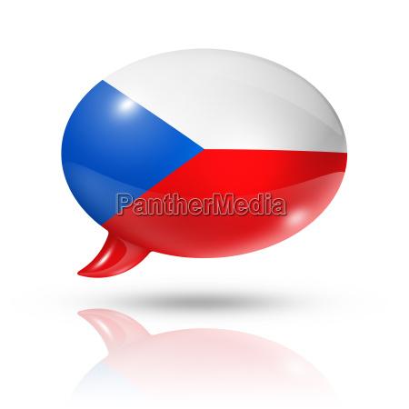 flagge der tschechischen republik sprechblase