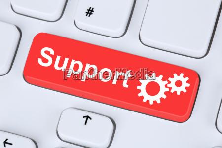 support service hilfe im internet