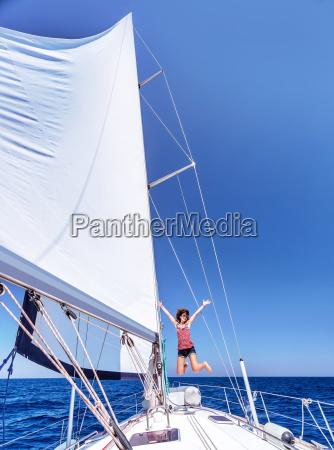 spass auf segelboot