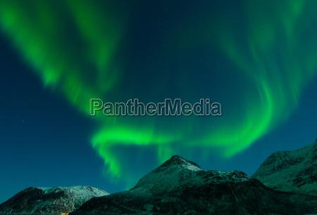 polarlicht ueber dem grotfjord