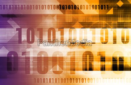 digital code hintergrund