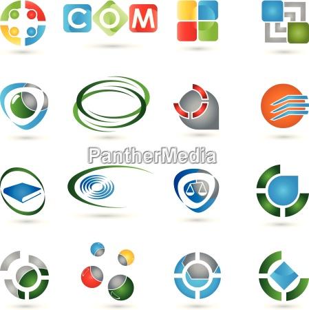 sammlung von logos icon vektor 3d