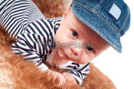 portrait von adorable baby in der