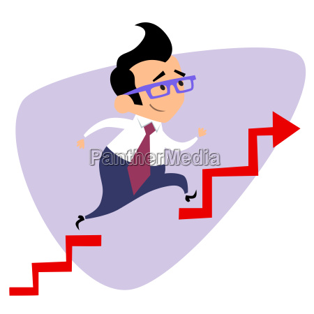 businessman takes a step over the