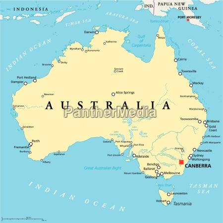 australien politische karte