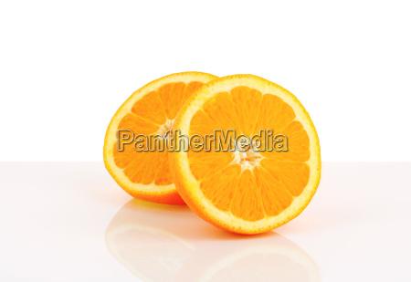 halbierte orange