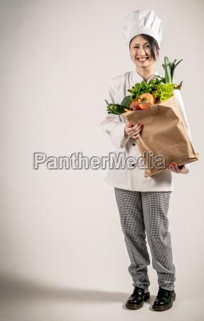 paper bag felice holding del cuoco