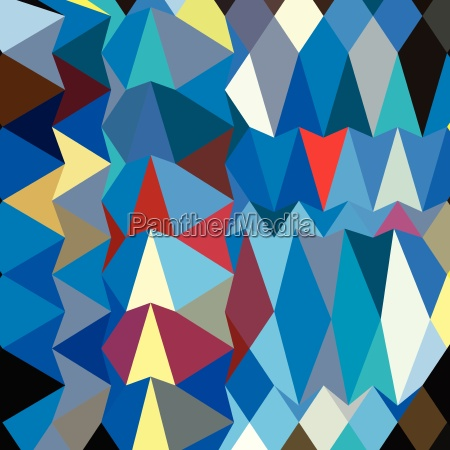 blue sapphire abstract low polygon background