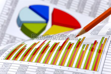 finanzen und kalkulation mit chart und