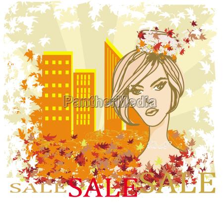 autumn sale maedchen banner