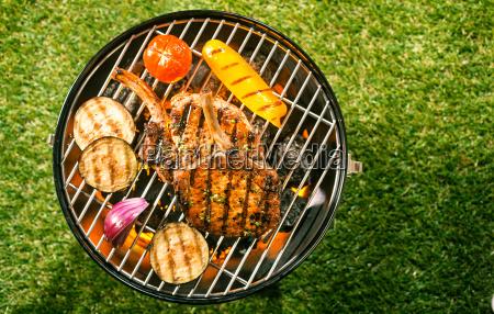 healthy lean pork loin with veggies