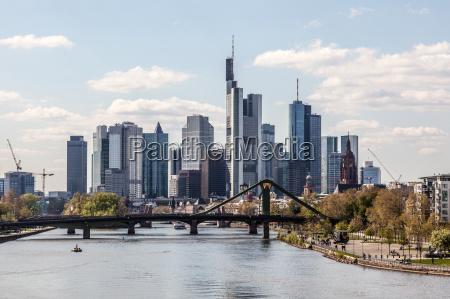 skyline der innenstadt von frankfurt am