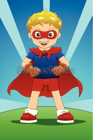 superheld junge