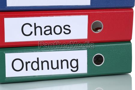 chaos und ordnung bei der arbeit