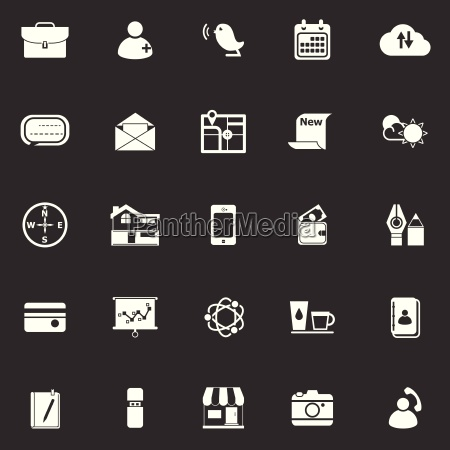 mobile icons on gray background
