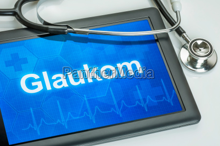 tablet diagnosed with glaucoma in the