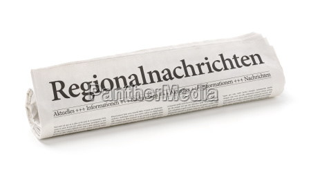 newspaper roll with the heading regional