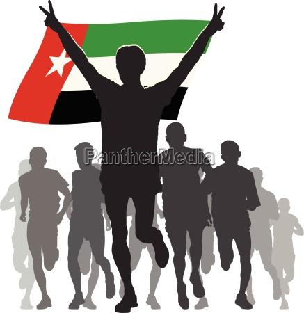athlete with the united arab emirates