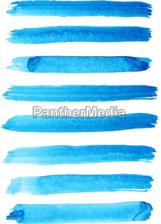 set of bright blue color brush