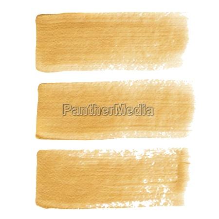 gold acrylic vector brush strokes