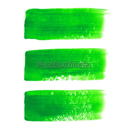 gruenes acryl gemalt vektor pinsel strichsatz