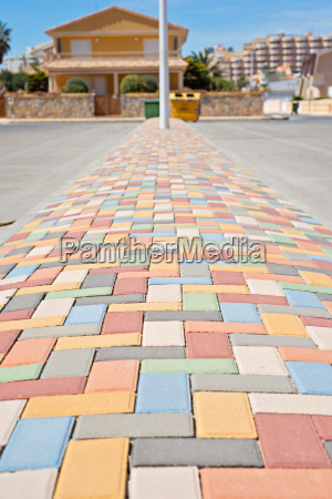 multi colored vibrant paving stones