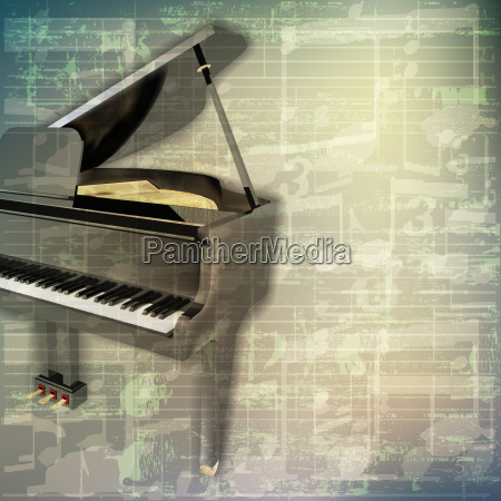 abstract grunge music background with grand