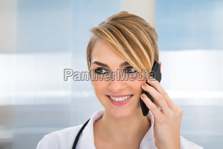 doctor talking on cellphone