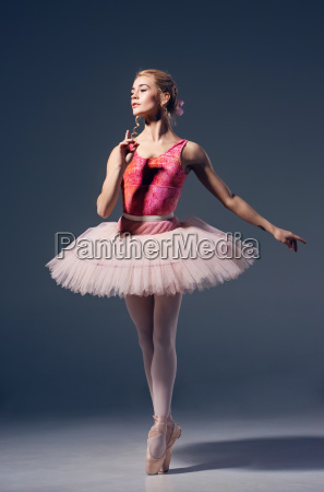 portraet der ballerina in ballettpose