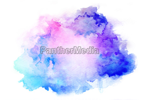 tinte blau aquarell hintergrund