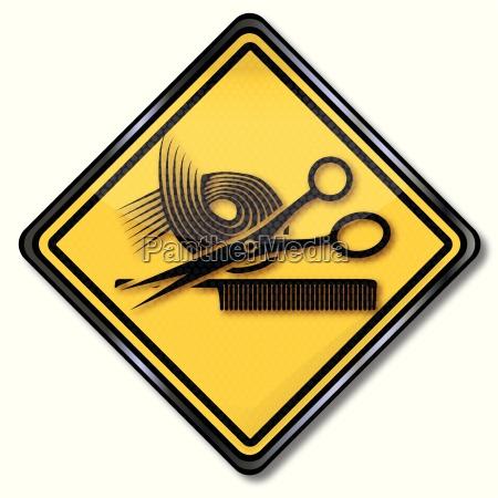 shield for training for hairdresser