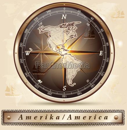 karte von amerika