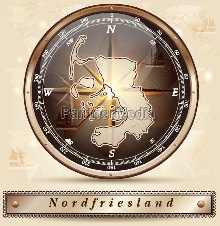 karte von nordfriesland