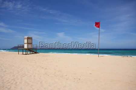 flag booth canary islands lifeguard bathing