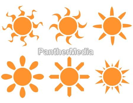 conjunto de vectores el sol en