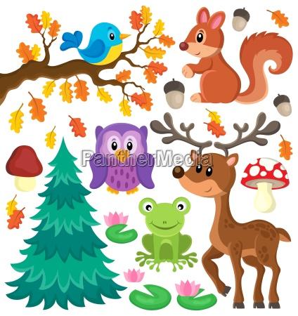 forest animals theme set 1