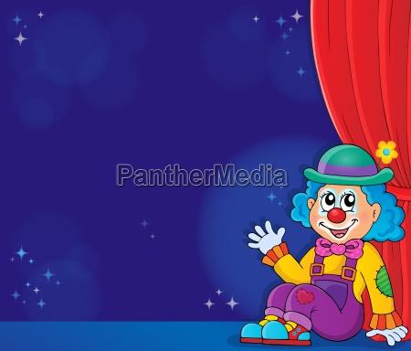 unterhaltung entertainment person clown gardine bewirten