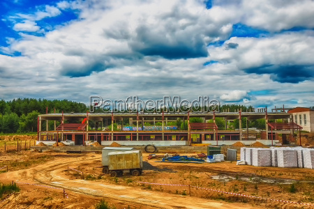 building under construction with hdr effect