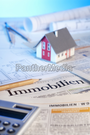 real estate advertisements and building plans